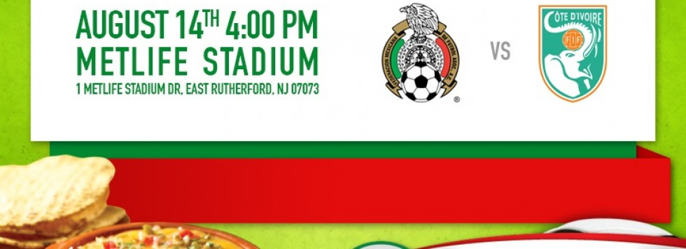 Mexico vs Ivory Coast match in East Rutherford, NJ